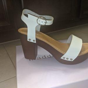 Madden girl white heels